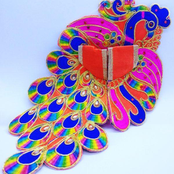 Laddu gopal peacock type dress